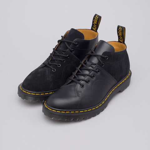Dr. Martens x Engineered Garments Church Boot Smooth+Rello Calf Suede in Black - Notre