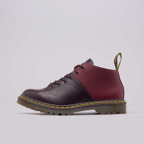 Dr. Martens x Engineered Garments Church Boot Smooth+Pebble Leather in Oxblood/Cherry Red - Notre