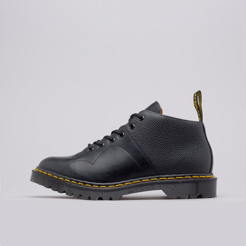 Notre x Engineered Garments Church Boot Smooth+Pebble Leather in Black - Notre