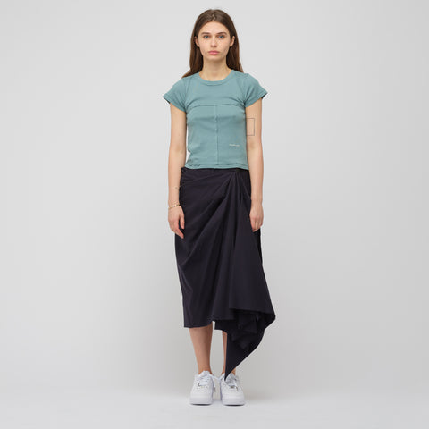Eckhaus Latta Lapped Baby T-Shirt in Mineral Blue - Notre