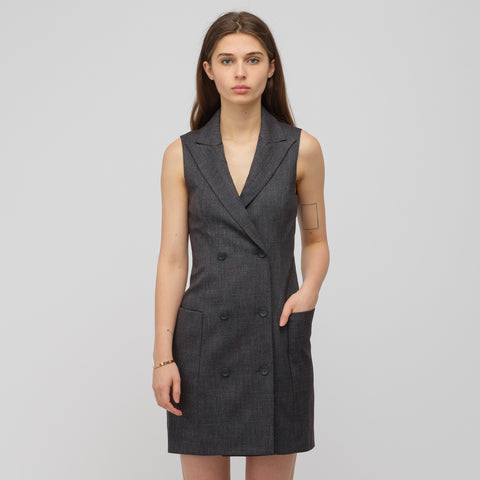 Eckhaus Latta Sleeveless Blazer Dress in Astral - Notre