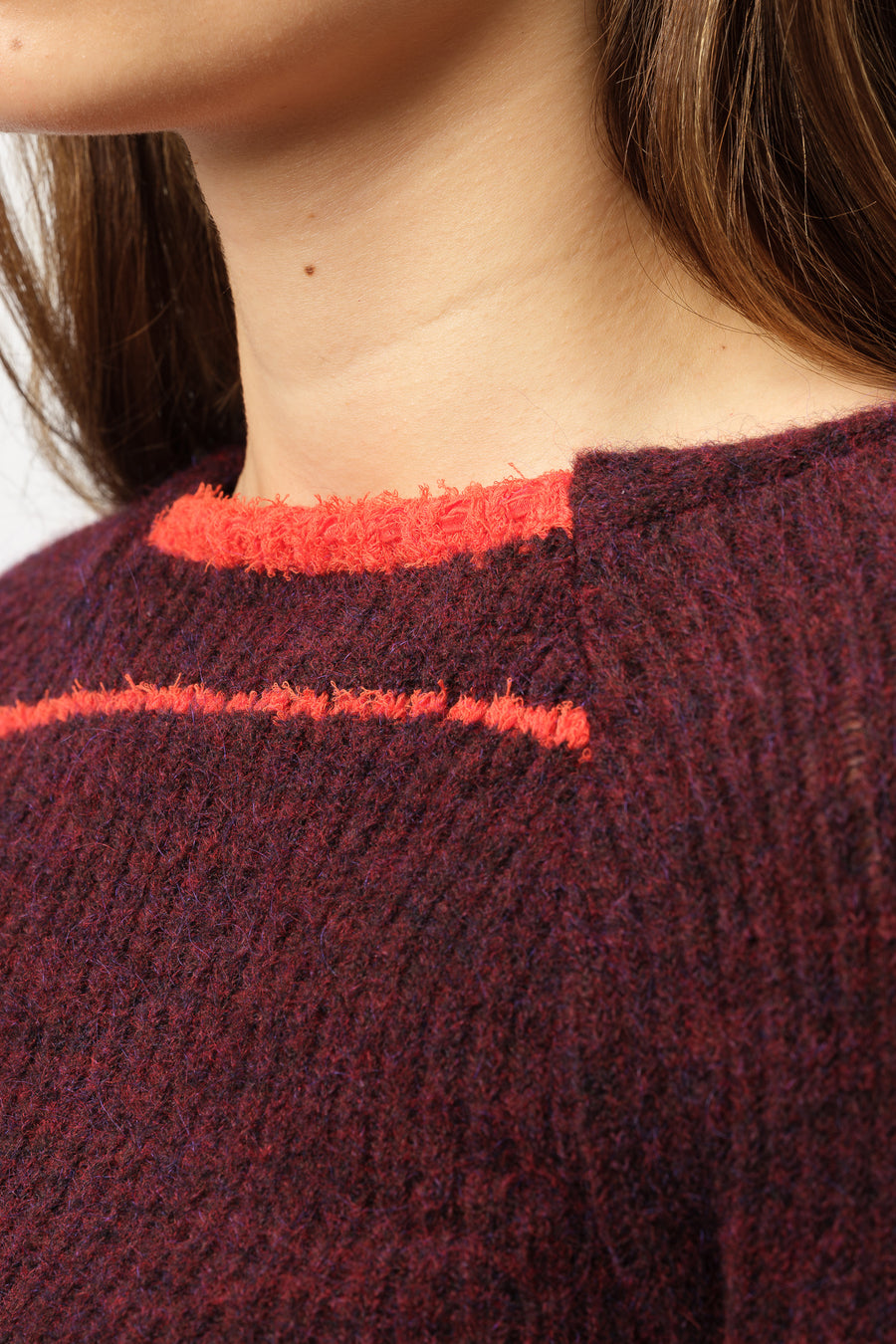 Eckhaus Latta Heatwave Sweater in Amaranth - Notre