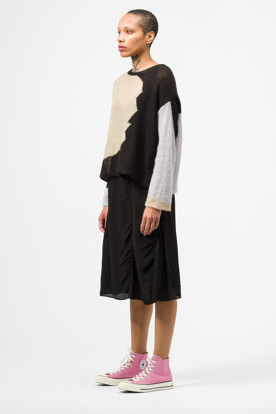 Eckhaus Latta Landscape Sweater in Black Multi - Notre