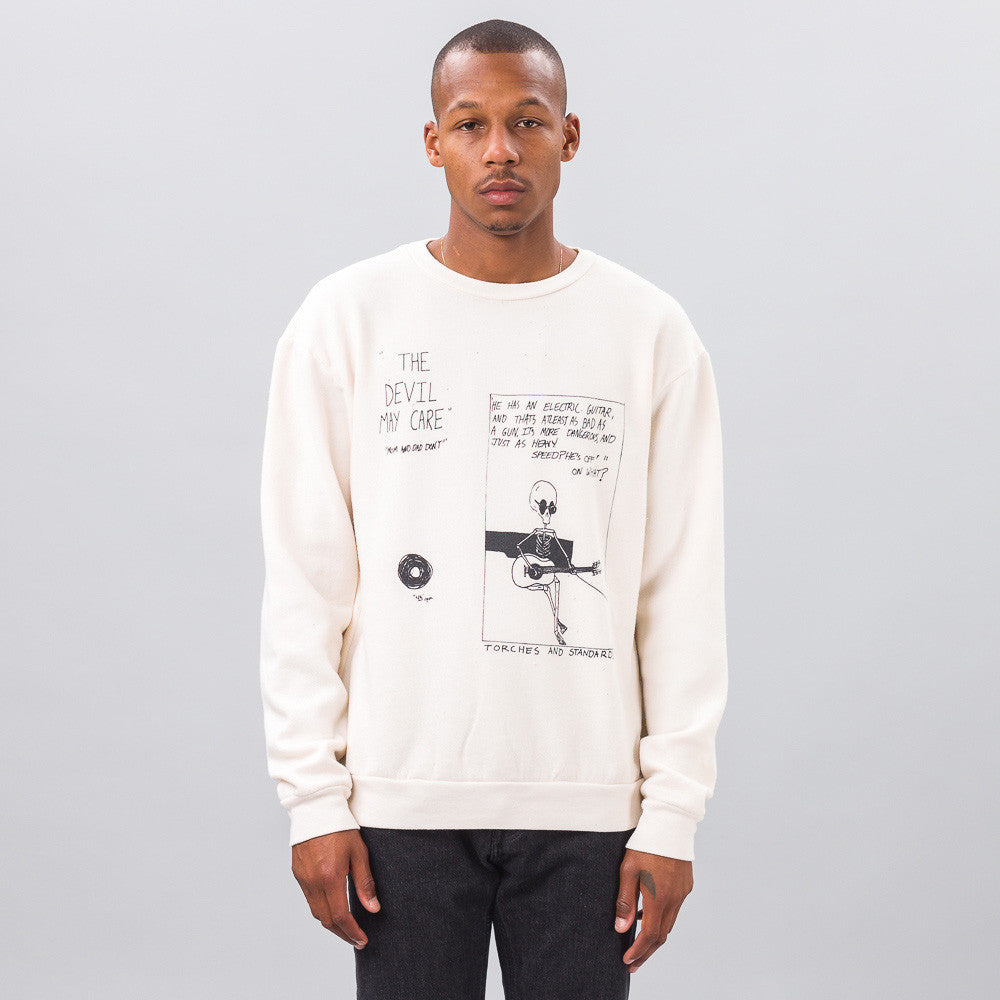 ENFANTS RICHES DÉPRIMÉS - Devil May Care Crewneck in Cream - Notre - 1