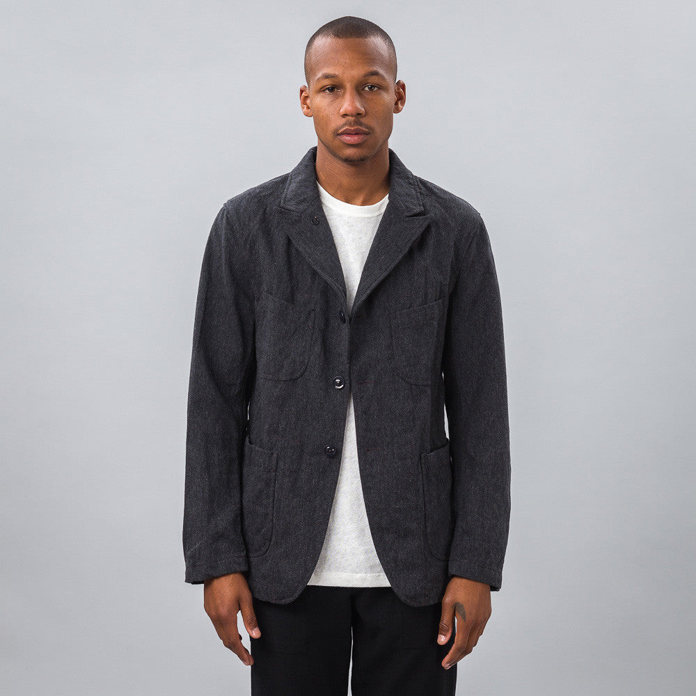 Engineered Garments - Bedford Jacket in Charcoal Serge - Notre - 1