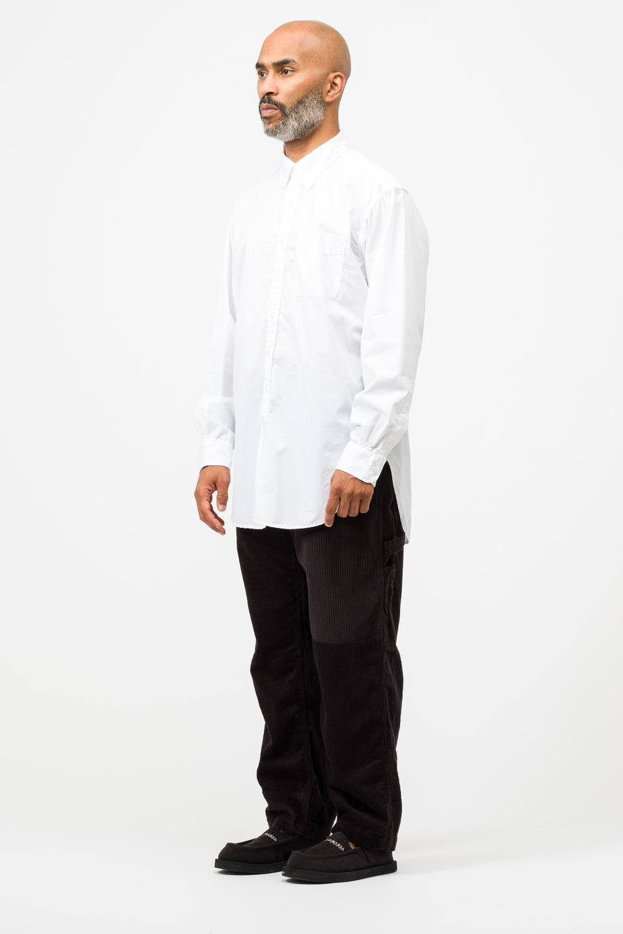 Engineered Garments 19 Century BD shirt in White Broadcloth - Notre