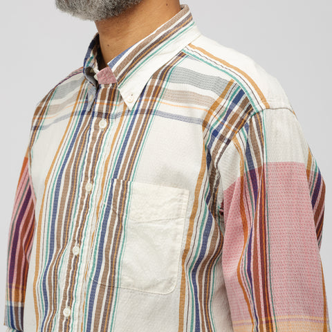 Engineered Garments 19th Century BD Shirt in Multi Repeat Plaid Dobby - Notre