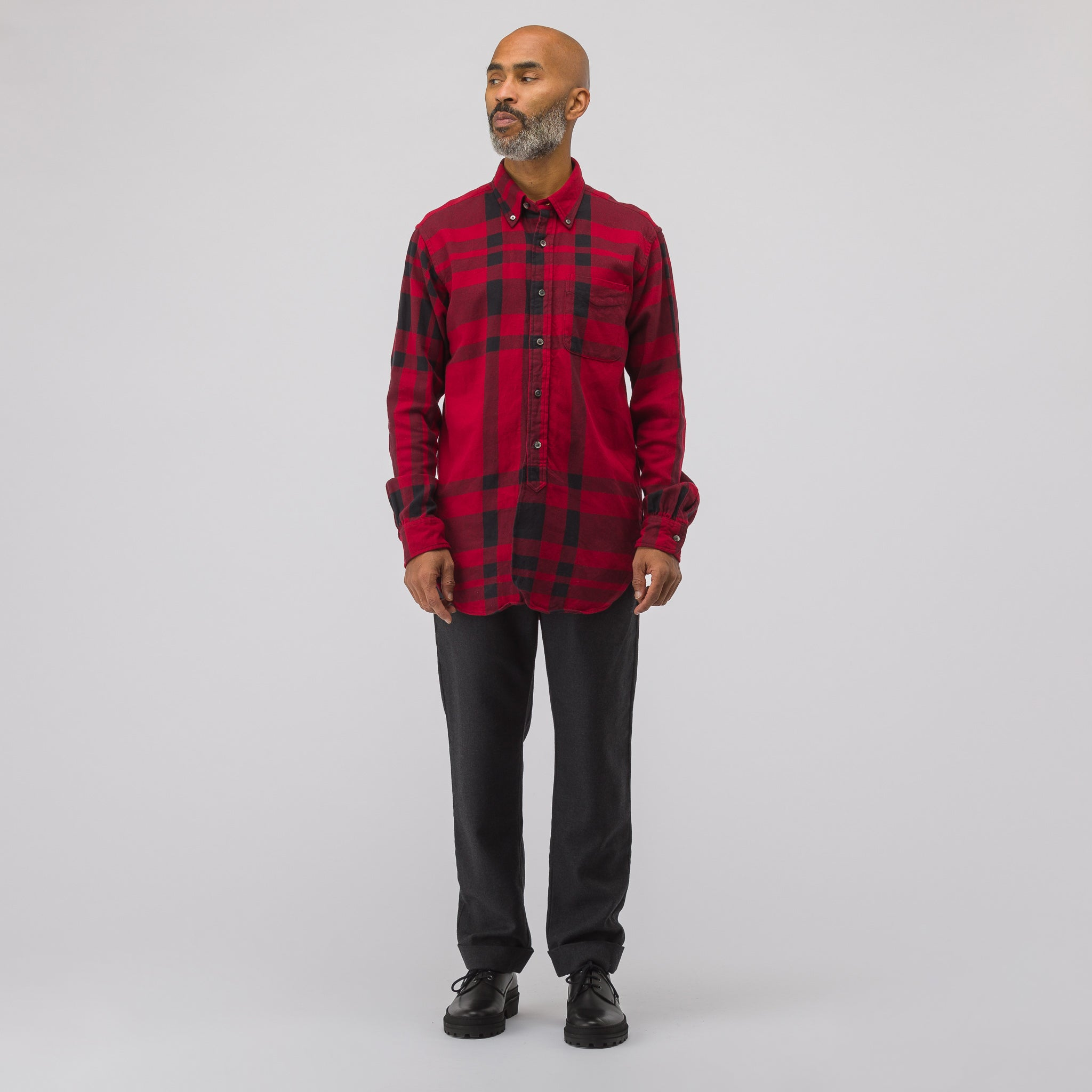 19th Century BD Shirt Plaid in Red/Black