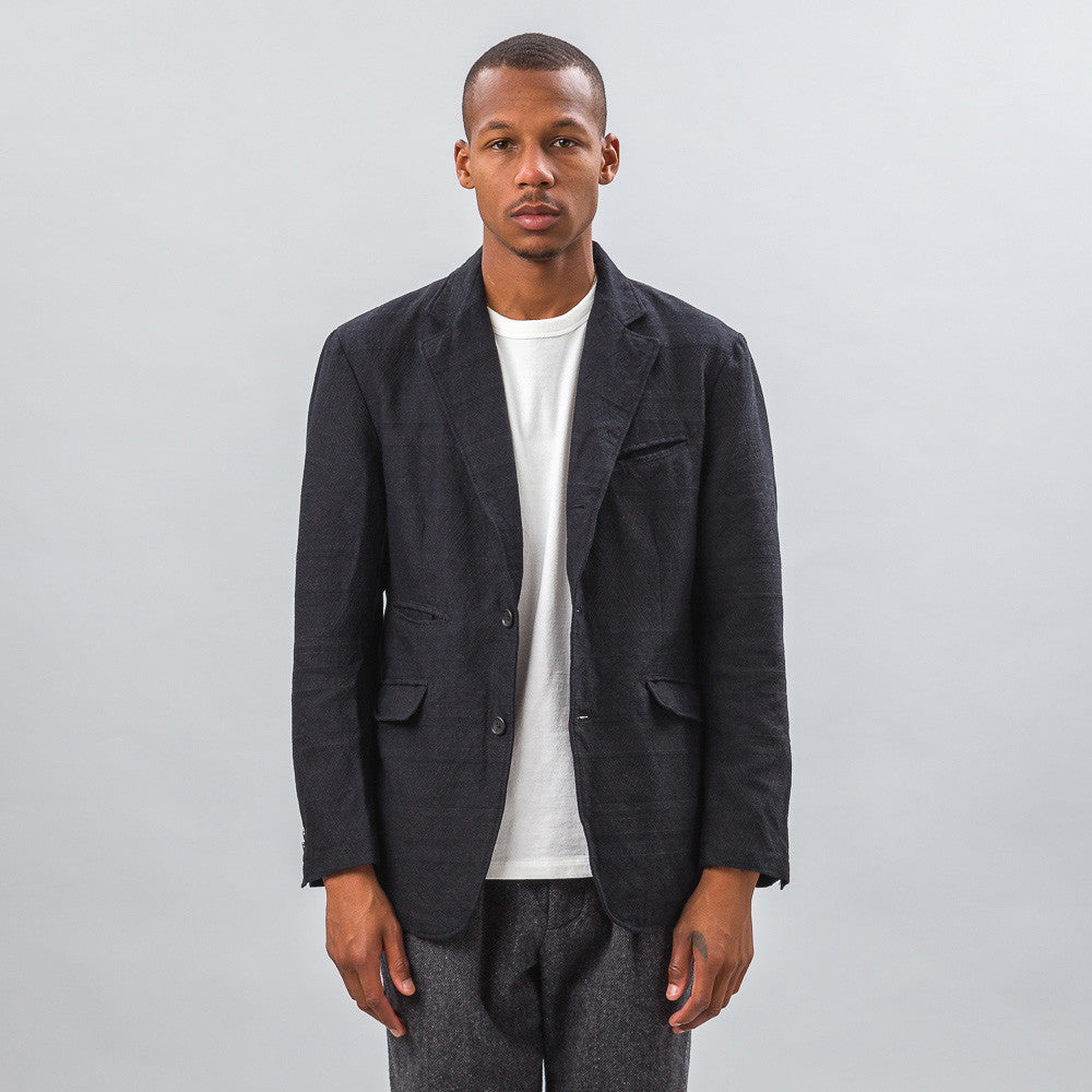 Engineered Garments Andover Jacket in Charcoal Wool Model Shot