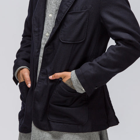 Baker Jacket in Dark Navy Worsted Heavy Wool