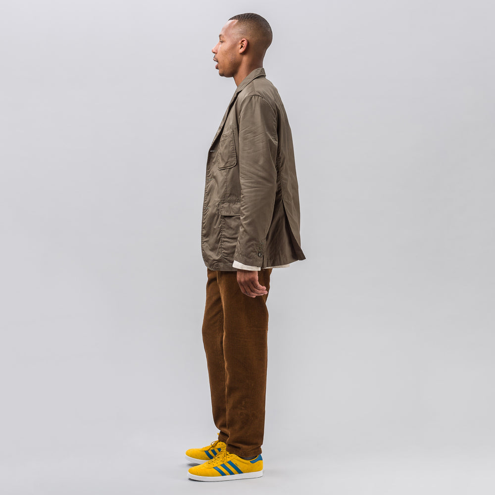 Engineered Garments Baker Jacket in Olive High Count Twill - Notre