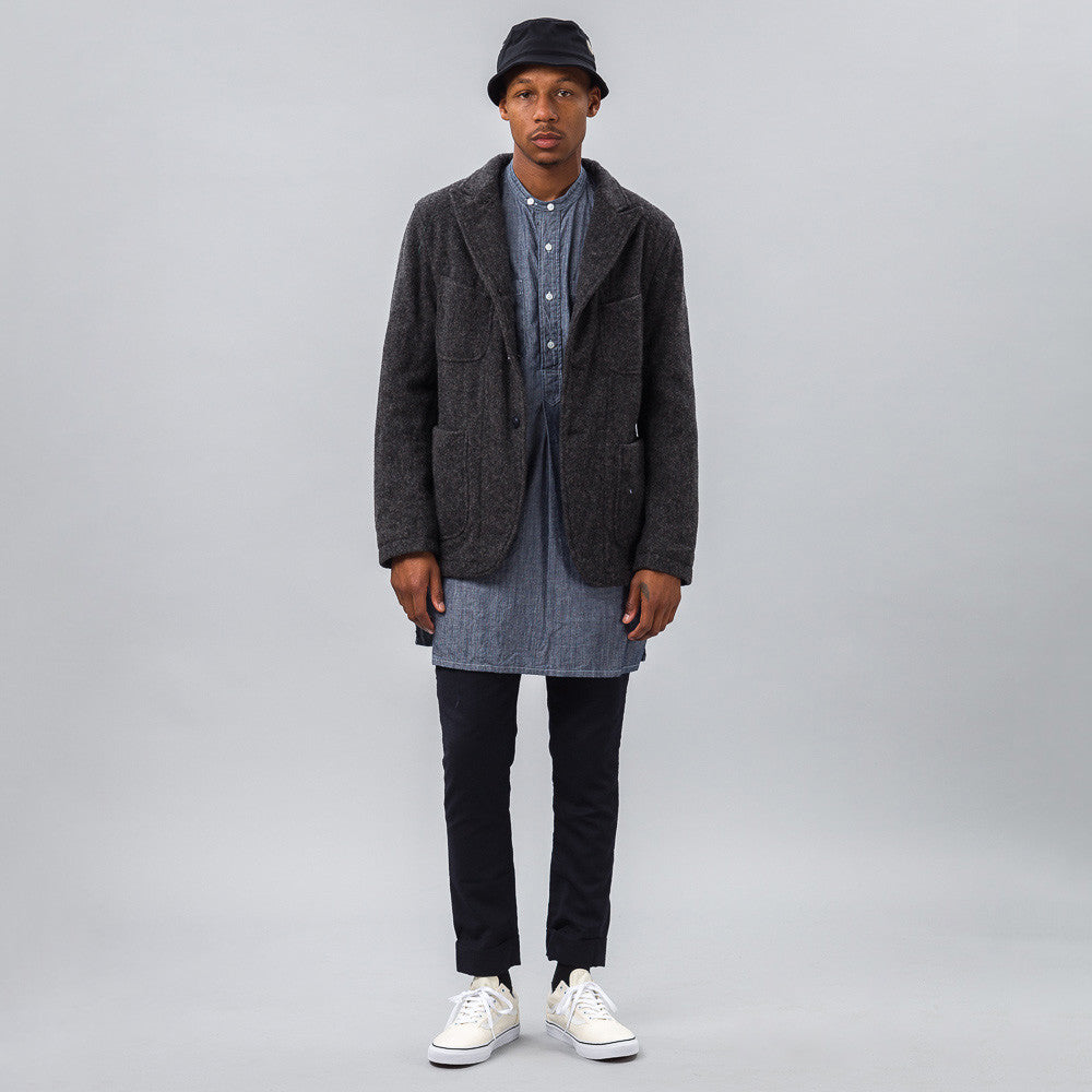 Engineered Garments - Bedford Jacket in Dark Grey Herringbone - Notre - 1