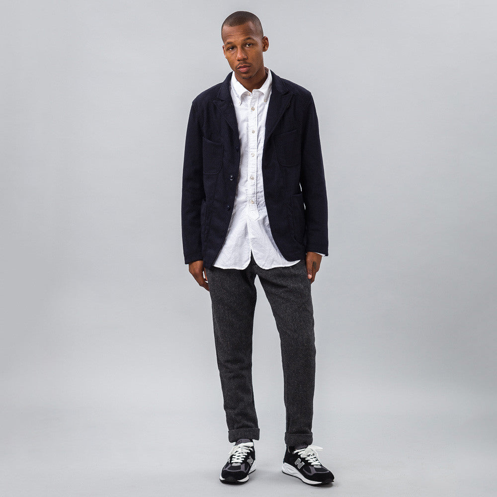 Engineered Garments - Bedford Jacket in Dark Navy/Black Stripe - Notre - 1