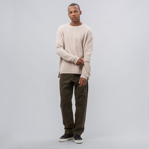 Engineered Garments Benson Pant in Olive Moleskin - Notre