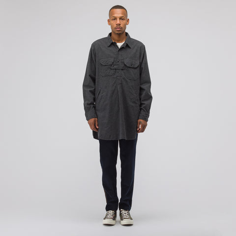 Engineered Garments Bird Shooter Shirt in Charcoal Heather - Notre