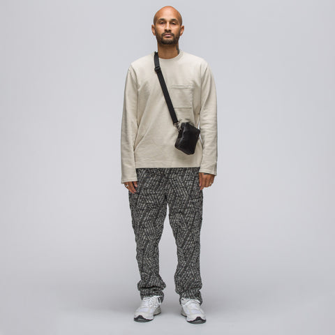 Engineered Garments Cable Knit Trackpant in Grey Zigzag - Notre