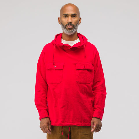Engineered Garments Cagoule Shirt in Red - Notre
