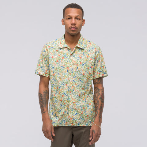 Engineered Garments Camp Shirt in Garden Floral Lawn - Notre
