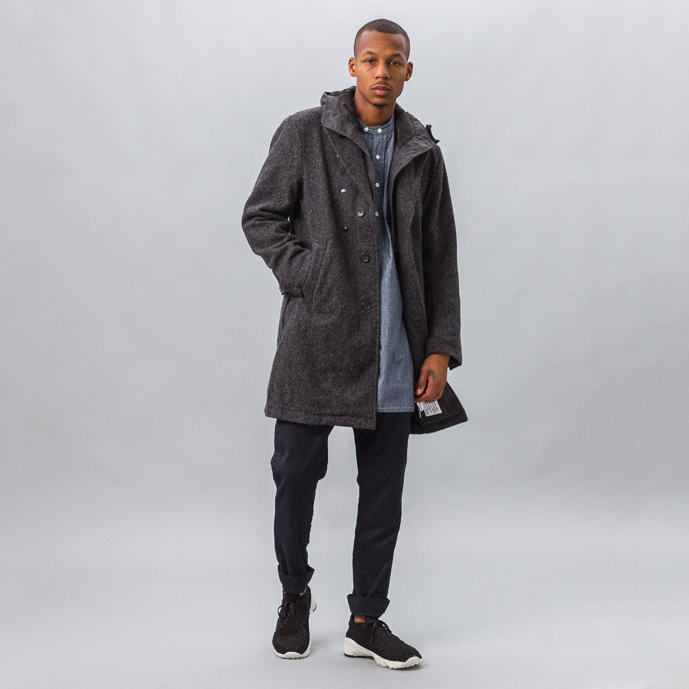 Engineered Garments - Chester Coat in Dark Grey Wool Herringbone - Notre - 1