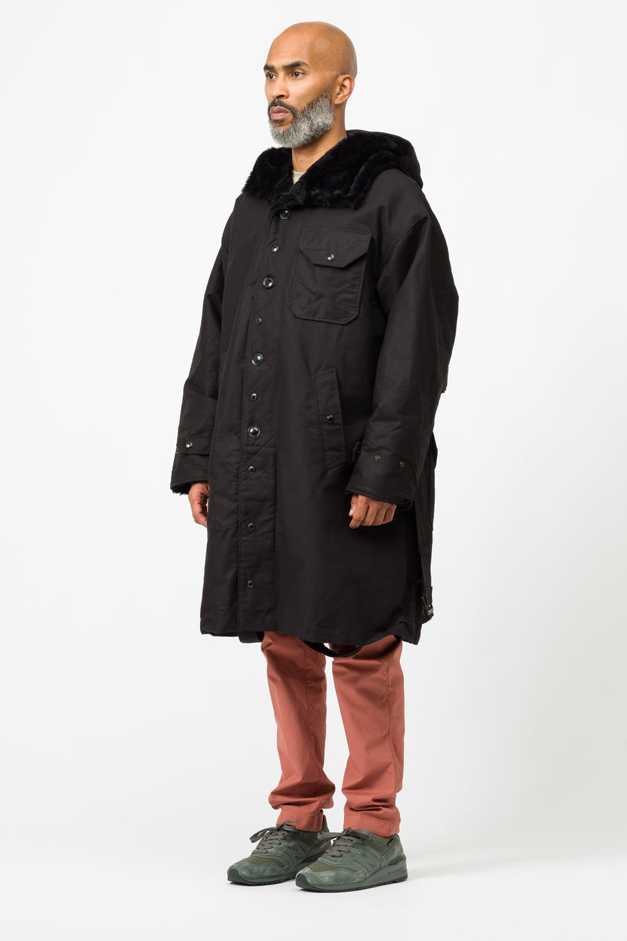 Engineered Garments Coastline Parka in Black - Notre