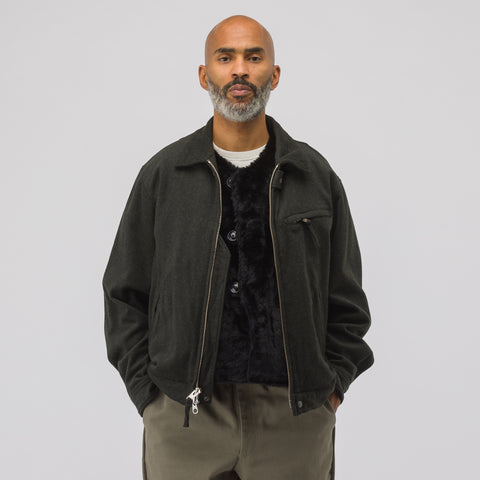 Engineered Garments Driver Jacket in Dark Olive - Notre