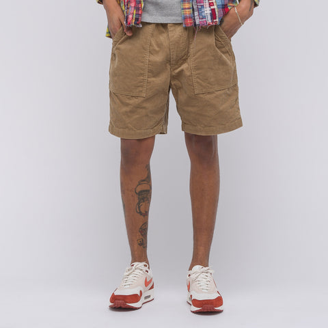 Engineered Garments Fatigue Short in Khaki Corduroy - Notre