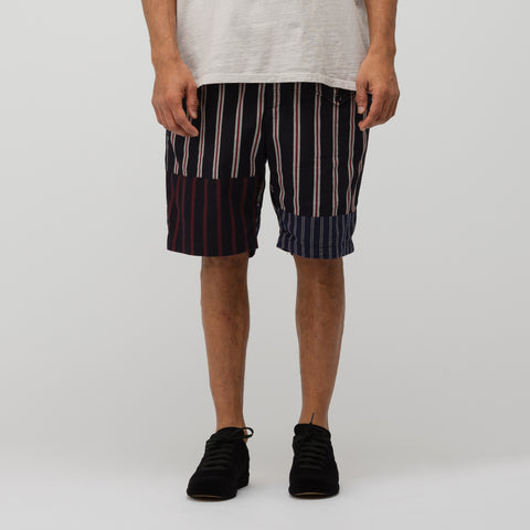 Engineered Garments Ghurka Short in Navy/Red/White - Notre