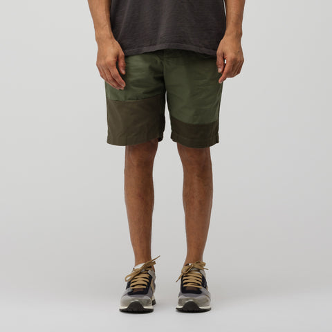 Engineered Garments Ghurka Short in Olive Cotton Ripstop - Notre