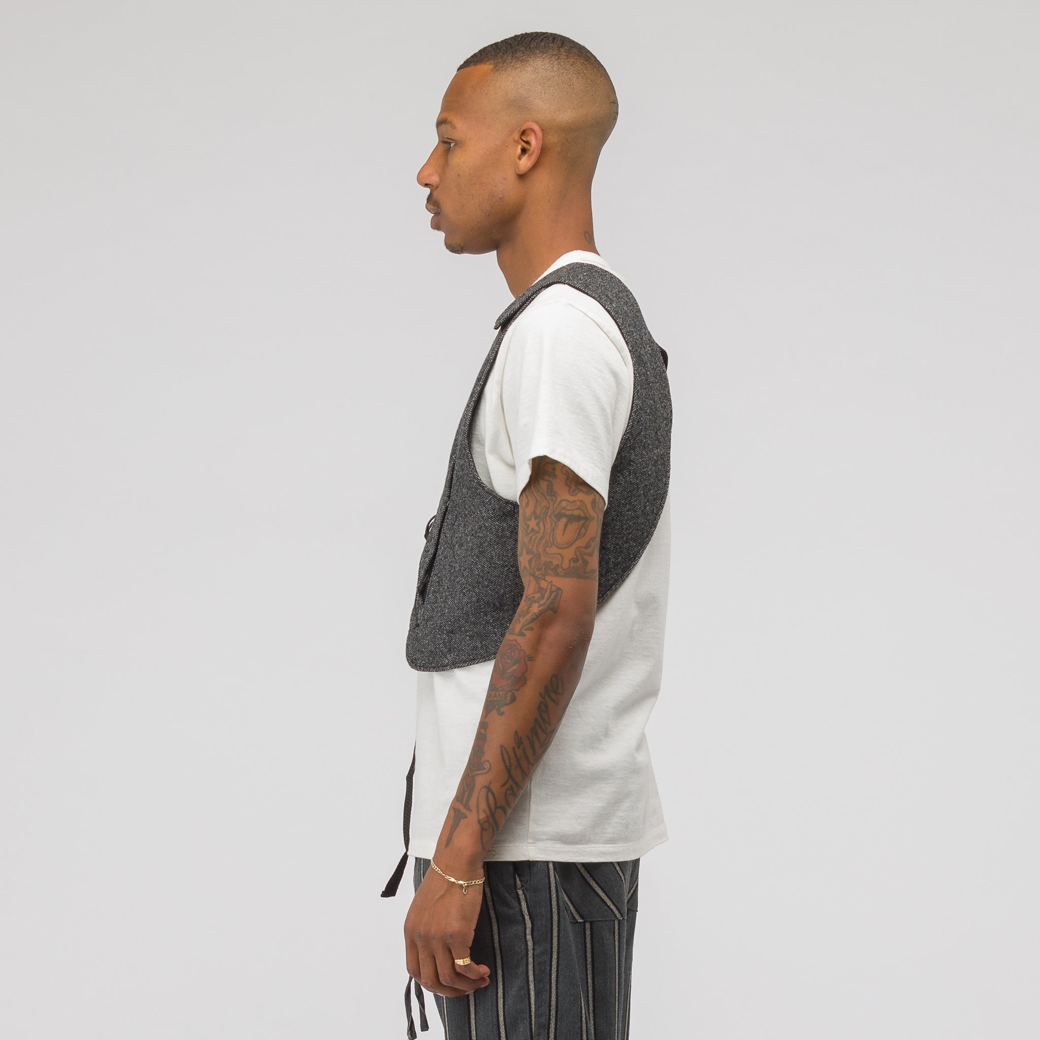 Holster Vest in Grey Wool