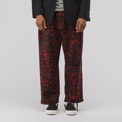 Engineered Garments Jog Pant in Red/Black - Notre