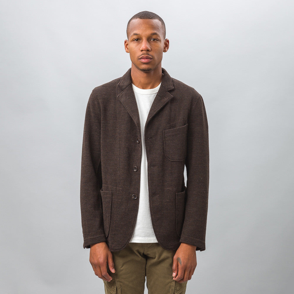 Engineered Garments - Knit Blazer in Brown Wool Jersey - Notre - 1