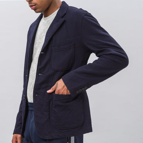 Engineered Garments Knit Blazer in Navy French Terry - Notre