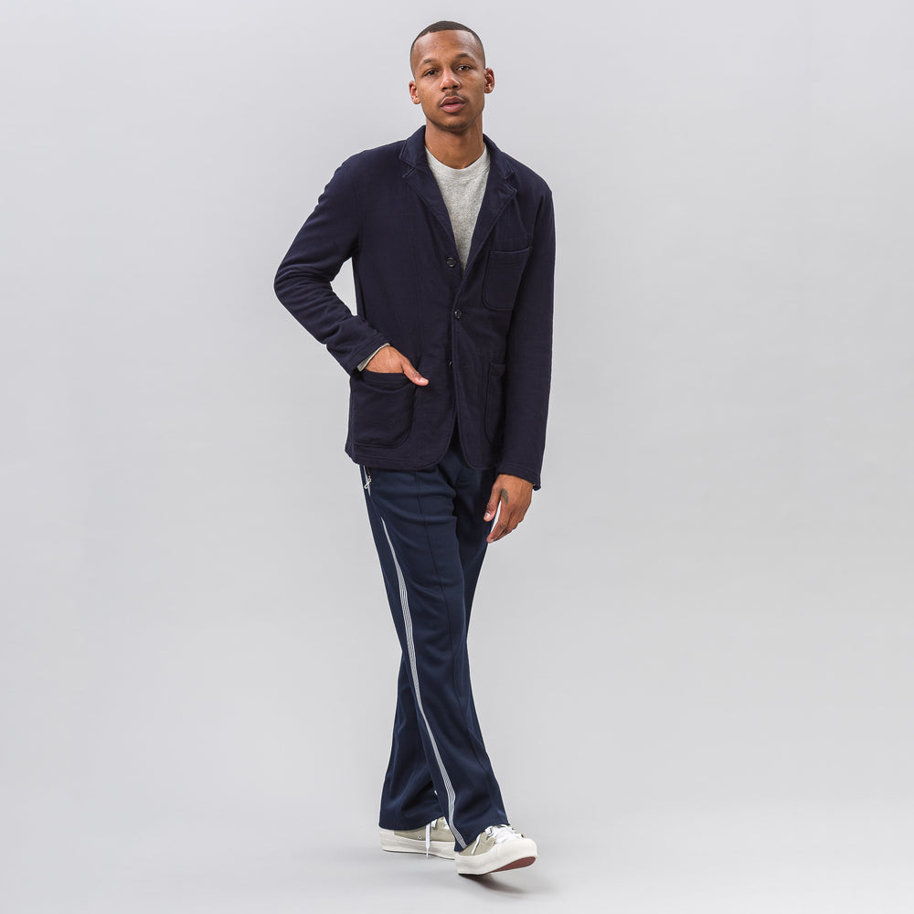 Engineered Garments Knit Blazer in Dark Navy French Terry - Notre