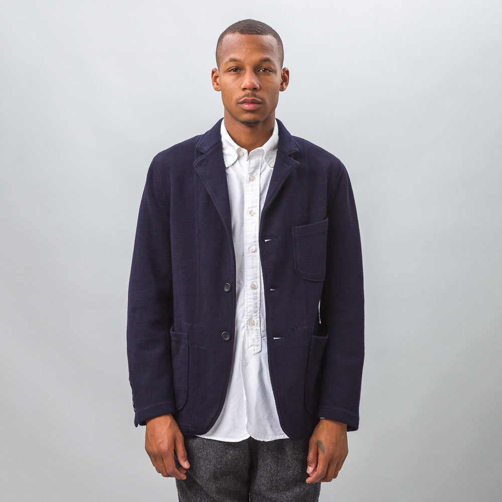 Engineered Garments - Knit Blazer in Dark Navy Wool Jersey Knit - Notre - 1