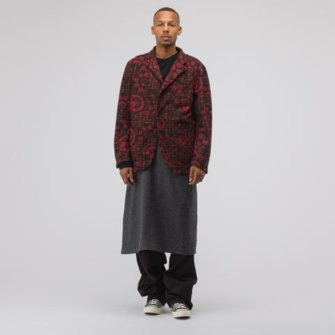 Engineered Garments Knit Jacket in Red/Black - Notre