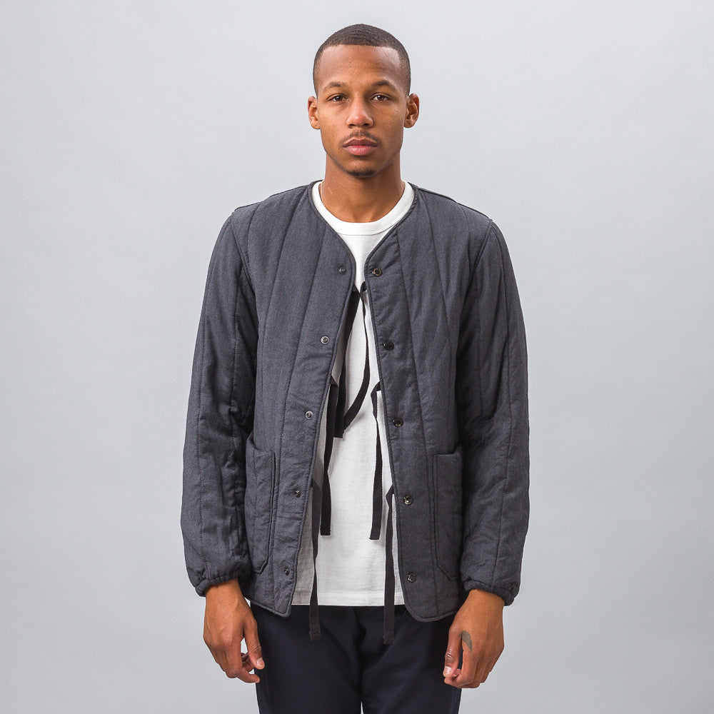Engineered Garments - Liner Jacket in Grey Worsted Wool - Notre - 1