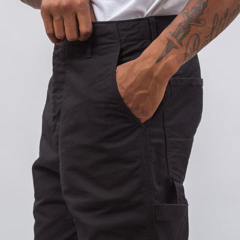 Engineered Garments Logger Pant in Black Cotton Double Cloth - Notre