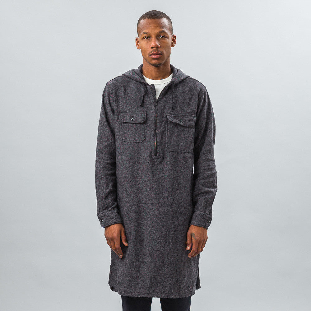 Engineered Garments - Long Bush Shirt in Grey/Black Broken Twill - Notre - 1