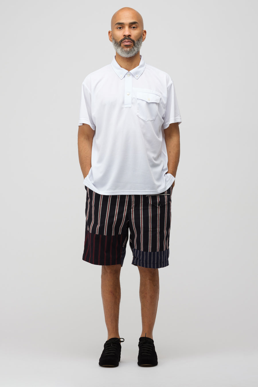 Engineered Garments Mesh Polo in White - Notre