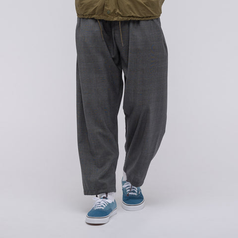 Engineered Garments New Balloon Pant in Charcoal Glen Plaid Wool - Notre