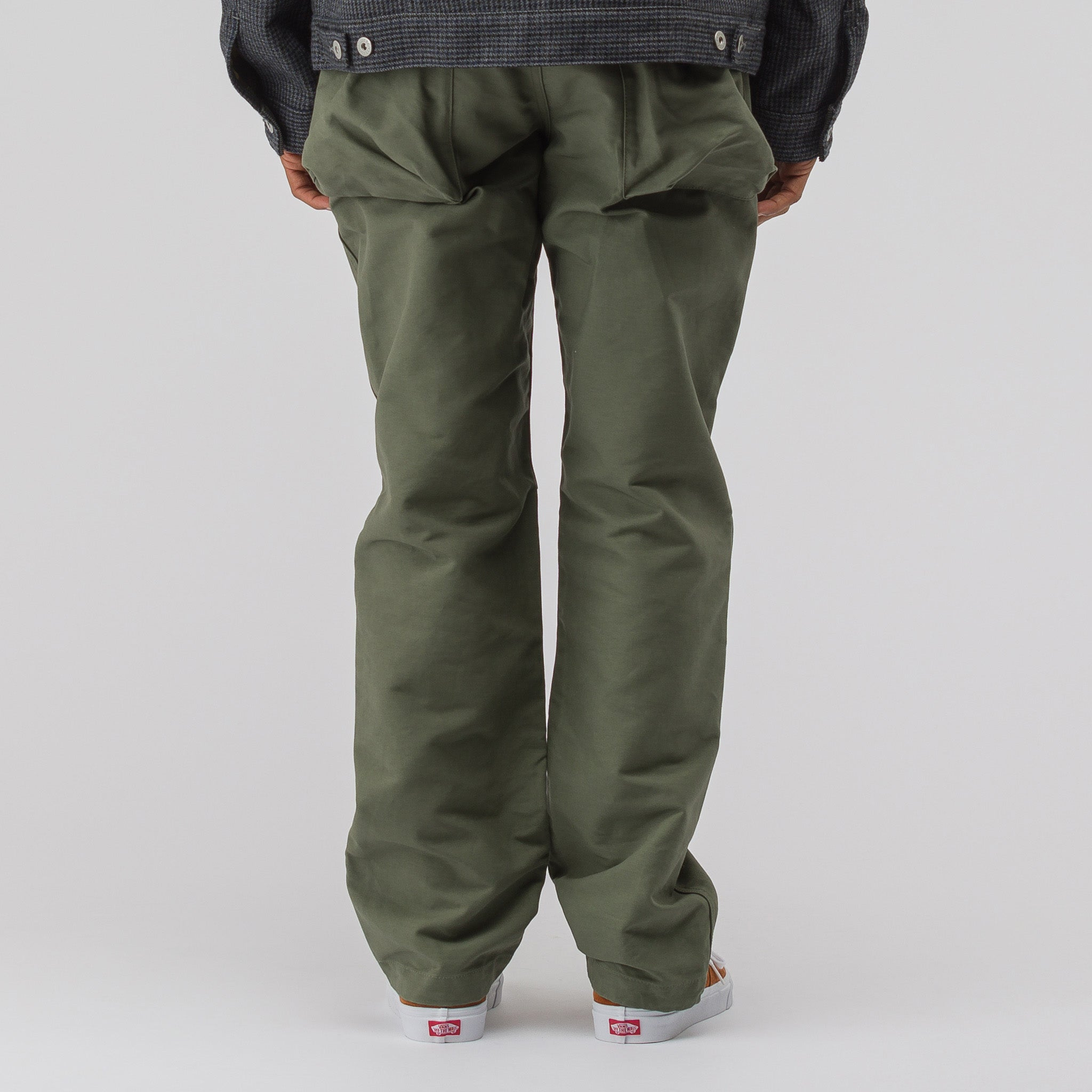 Norwegian Pant in Olive Double Cloth