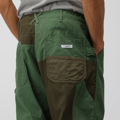 Engineered Garments Painter Pant in Olive Cotton Ripstop - Notre