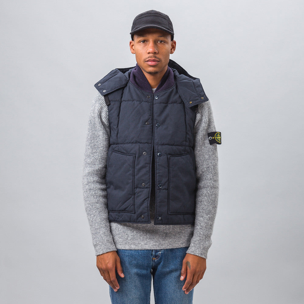 Engineered Garments - Primaloft Vest in Dark Navy Nyco Ripstop - Notre - 1