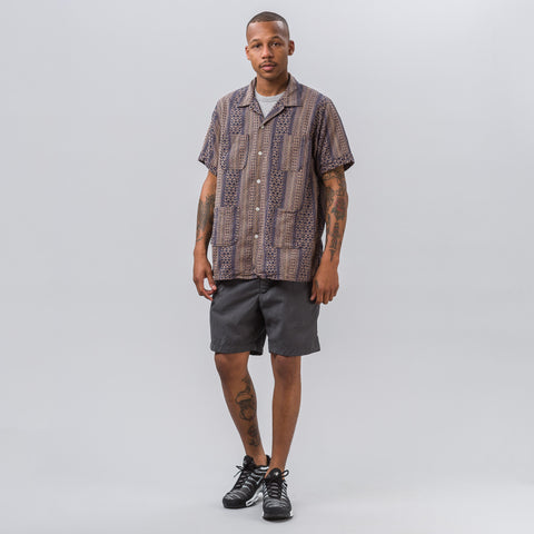 Engineered Garments Sunset Short in Grey Tropical Wool - Notre