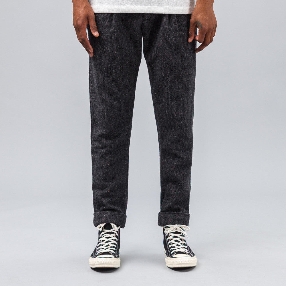 Engineered Garments - Willy Post Pant in Dark Grey Pattern Mix - Notre - 1