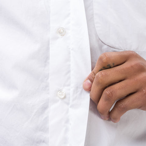 Engineered Garments Short Collar Shirt in Broadcloth - Notre
