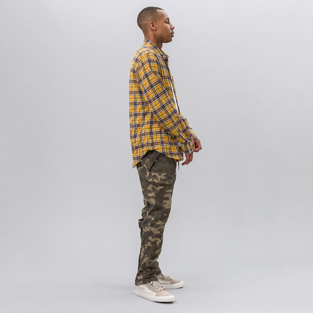 Camo Slim Cargo in Army Khaki