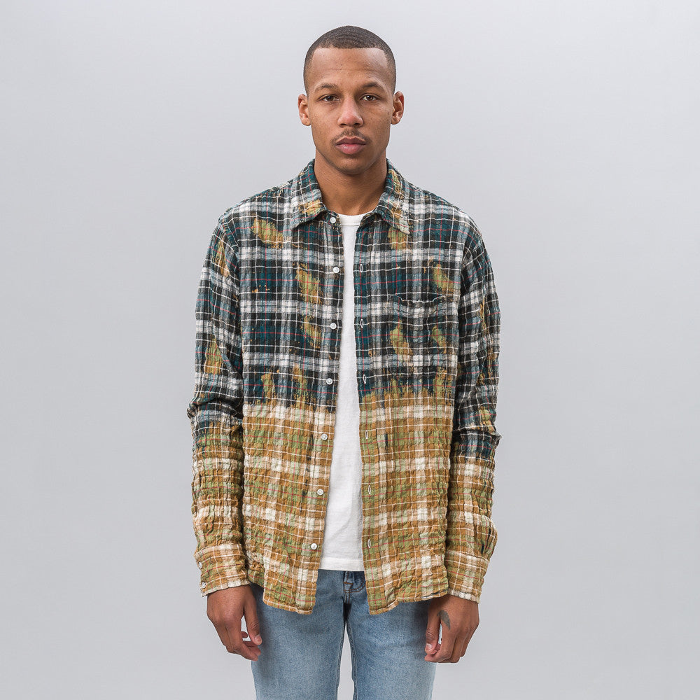 Faith Connexion Check Loose Shirt in Green/Red - Notre
