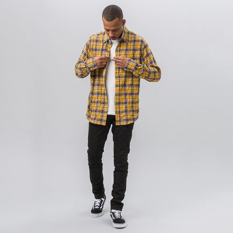 Faith Connexion Check Loose Shirt in Yellow/Blue - Notre