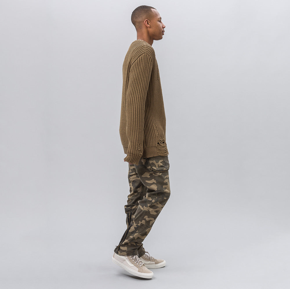 Cotton Sweater in Army Khaki